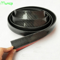 Muncp Car Styling Rubber Front Bumper Strips Guard Lip Body Kit Wrap Splitter Protector Stickers For