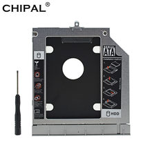 CHIPAL Metal 2nd HDD Caddy 9.5mm SATA 3.0 Dual LED SSD HDD Case Enclosure for HP ProBook 440 445 450 455 470 G0 G1 G2 DVD/CD-ROM(China)