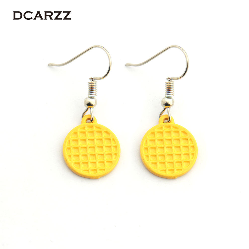 Stranger Things Eggo Earrings Eleven Waffle Earrings Geekery Fun Jewelry for Women/Girls TV Jewelry Cosplay Drop Shipping(China)