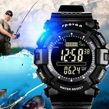 SPOVAN Men's Watch Digital Sports Outdoor Wristwatch Waterproof, Fishing Remind/Weather Forecast/ LED Backlight/Stopwatch SPV706 цены