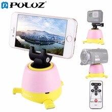 Puluz электронные 360 градусов вращения панорамные штативные головки W/удаленного вращающегося головкой для GoPro смартфон DSLR камеры