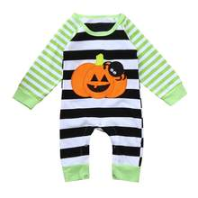 529f41f20654 Baby Girl Boy Romper Clothes Newborn Winter Long Sleeves Halloween Striped  Spider Pumpkin Jumpsuit Baby Warm Romper Set 18Jul25