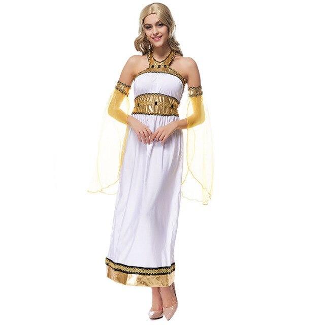 Arabian Princess Costume Mysterious Lady Ancient Greek Goddess White ...