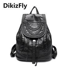 Модные женские туфли рюкзак высокое качество кожаные рюкзаки для девочек blosas женские сумки заклепки Вязание рюкзаки школьные сумка