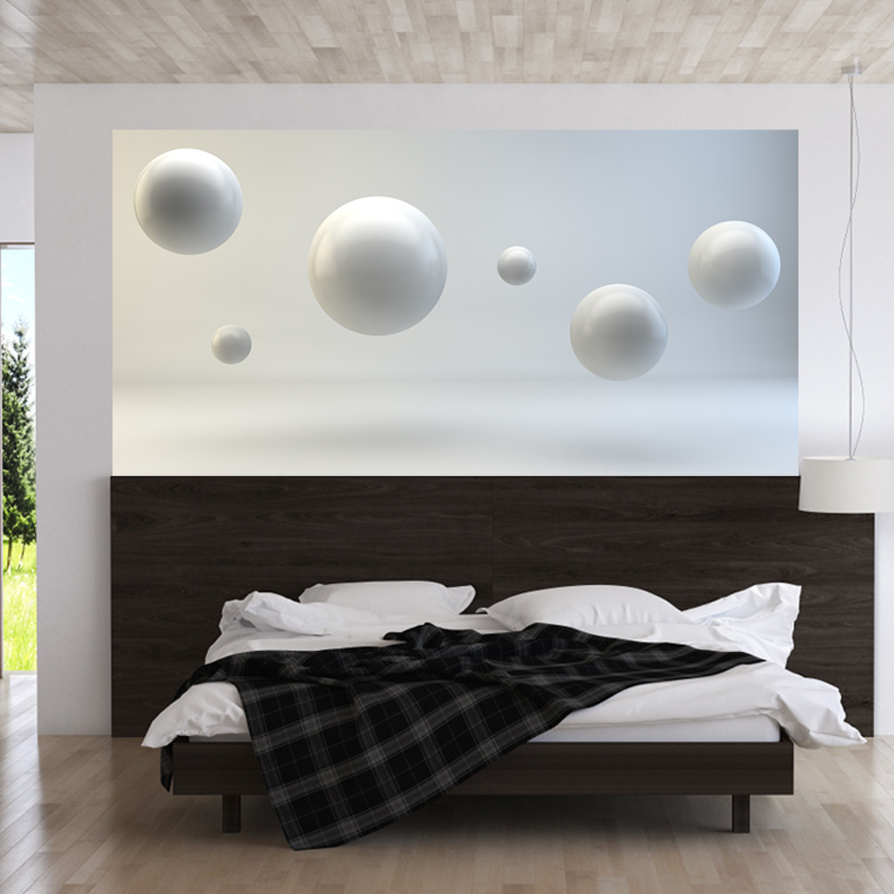3D Floating ball Bed Head Stickers Creative Wallpaper Bedroom Art Decoration