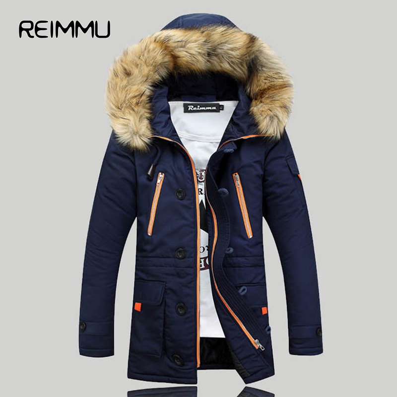 ФОТО 2016 New Winter Mens Parka Clothing Thicking Men Jacket Coat With Fur Hood high Quality Jackets Men plus size Vestidos hot sale