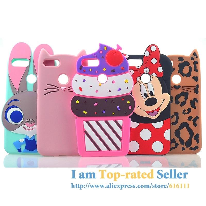For XiaoMi a1 Mi5x Case Cat Rabbit Minnie Mouse Cupcakes Silicon Cover For Xiaomi Mi 5X A1 Phone Case