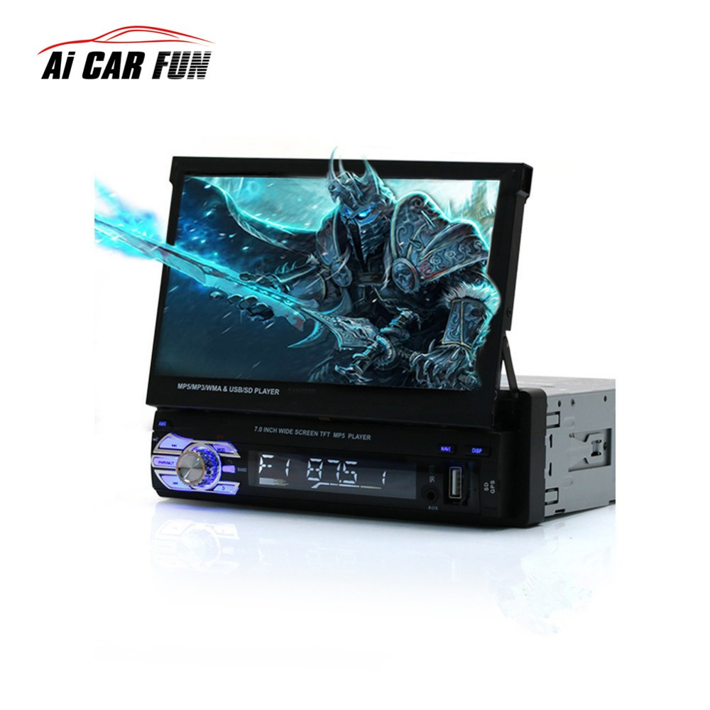 9601G 7'' HD Bluetooth Touch Screen Autoaudio Car Stereo Radio auto audio GPS Navigation MP4 MP5 Player DVD MP4 Mp5 Player 2 din car radio mp5 player universal 7 inch hd bt usb tf fm aux input multimedia radio entertainment with rear view camera