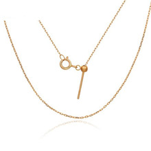 0.5g 1.1g 18K Gold O Chain Necklace For Women Au750 16inch 18inch Yellow Gold Rose Gold White Gold Hot Sale For Fine Jewelry fenasy 18k yellow gold crown pendant pearl necklace women wedding pearl jewelry chain necklace 18k gold necklace for love gift