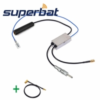 Superbat DAB Car Radio Antenna FM AM To DAB FM AM Aerial Converter Splitter And SMA