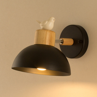 Modern Bedroom Bedside Lamp Led Sconce Indoor Warm Creative Personality Of Birds Living Room Reading Sconce Wall Lights