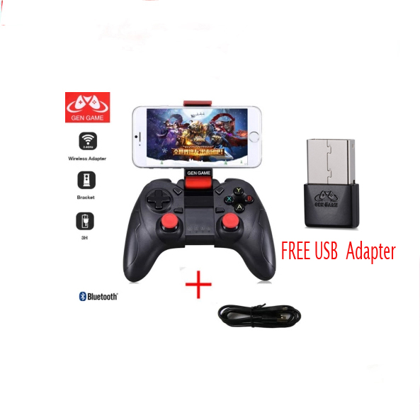 NEW Gamepad Wireless PC Joystick Cellular Phone Usb Joystick For PC/IOS/Android/TV GEN GAME S6 100%Quality With Play Game