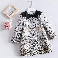 Spring Autumn quality girls dress Baby long sleeve dress kids brand dress Children vestidos leopard print 3 to 14 yrs