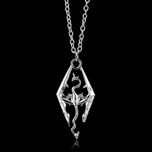 2017 New Game Dragon The Elder Scrolls V Pendant Necklace Skyrim Choker Men Jewelry Necklace Chain -30(China)