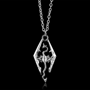 Cool New Game Dragon The Elder Scrolls V Pendant Necklace Skyrim Choker Men Jewelry Necklace Chain -30(China)