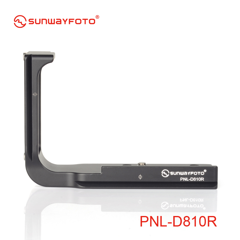 SUNWAYFOTO PNL-D810R Tripod Head Quick Release Plate For Nikon D810 D800 D800E Tripod Head L-bracket Quick Release Plate dste mb d12 multi power battery grip for nikon d800 d800e d810 camera black