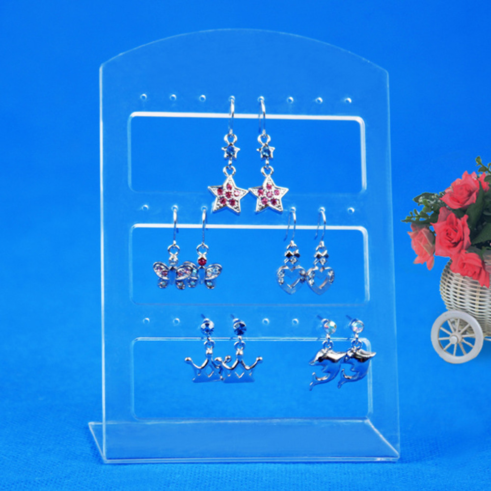 24 Holes Earring Jewelry Show Plastic Display Rack Stand Organizer Holder Stand Jewelry Display Rack Etagere