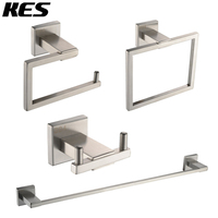 KES Bathroom 4 Piece Set Hardware Accessories SUS304 Stainless Steel Wall Mount, Polished / Brushed, LA240 42 / LA242 42