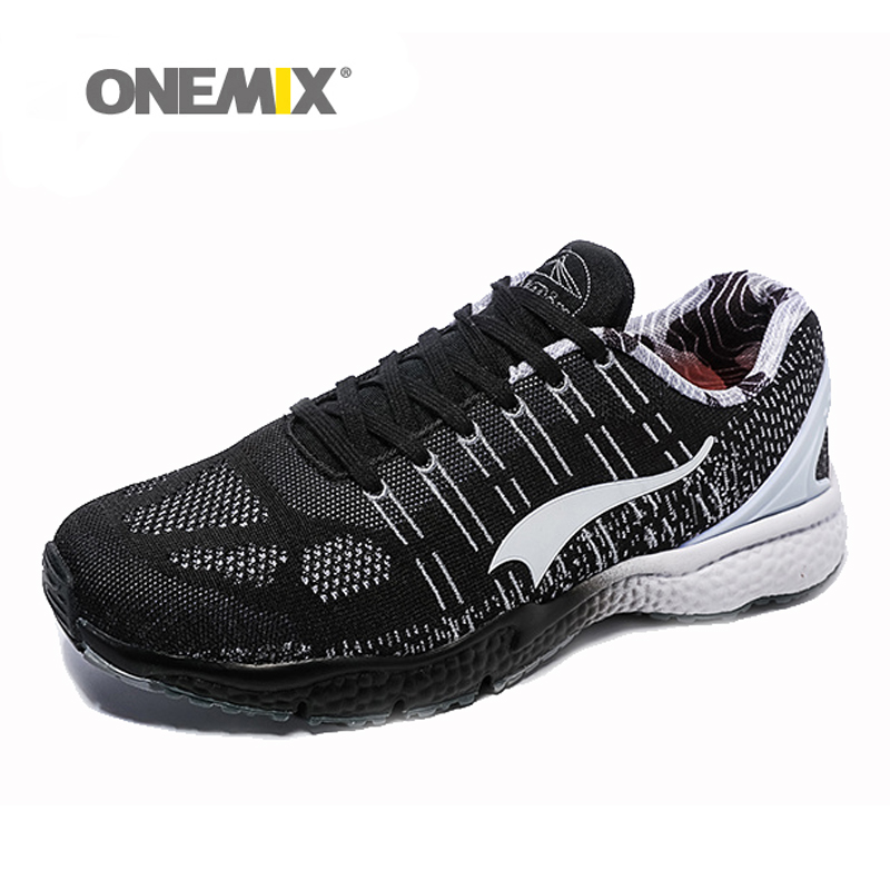 New onemix Breathable Mesh Running Shoes for Men Women 2016 Knit light Lady Trainers Walking Outdoor Sport Comfortable sneakers 2016 hot mesh breathable women running shoes comfortable platform sport shoes sneakers outdoor movement female chaussures femme