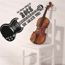 Modern DIY Home Decor Electric Guitar Wall Sticker Music Lover Art Home Room Mural Removable Wall Sticker For Living Room