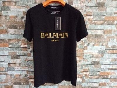 BALMAIN paris brand clothing   T     shirt   Men's and women's short-sleeved   T     shirts   2019 new fashion casual hip hop   T  -  shirt