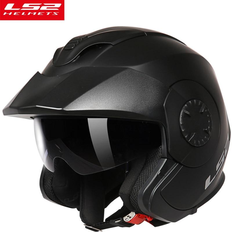 цена New LS2 Verso OF570 vintage motorcycle helmet open face locomotive retro scooter motorbike helmet men vesap ECE moto helmets