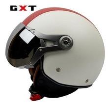 Vintage GXT motorbike motorcycle helmet retro 3/4 open face scooter helmet PU casco motocicleta capacete
