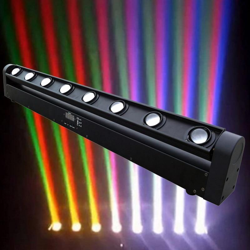Professional LED Bar Beam Moving Head Light 8x12W RGBW multicolor LED Beam Lights DMX DJ Christmas Party Venue Show Stage Lights