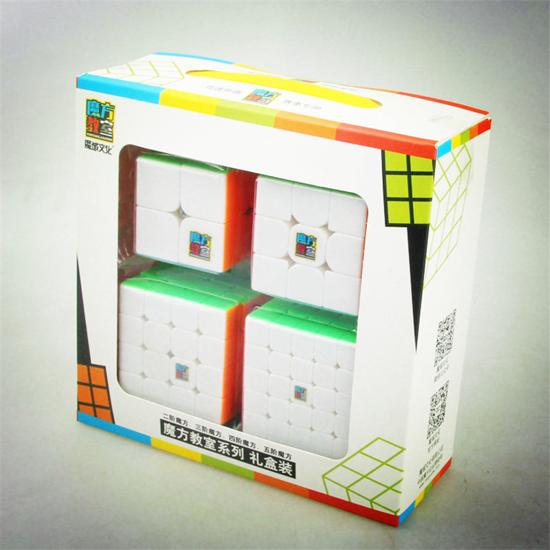 Moyu Cube Bundle 2x2 3x3 4x4 5x5 Speed Cube Set Mofang Jiaoshi Magic Cube MF2S MF3S MF4S MF5S Pack Puzzle Toy Gift Box dayan 5 zhanchi 3x3x3 brain teaser magic iq cube