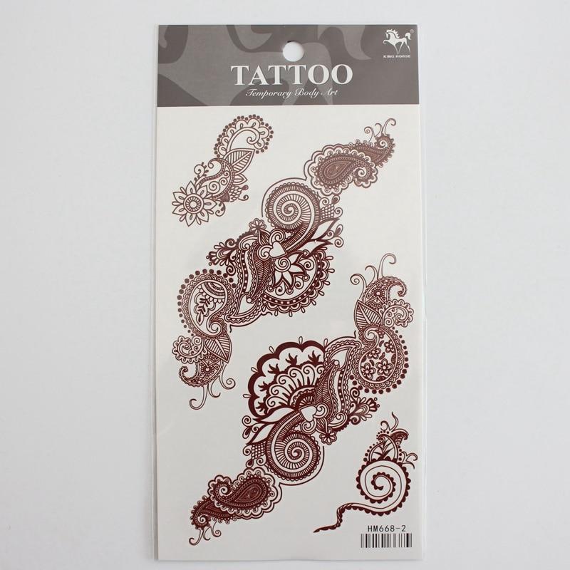 Aliexpress.com : Buy 1pcs Brown Henna Tattoo Sticker