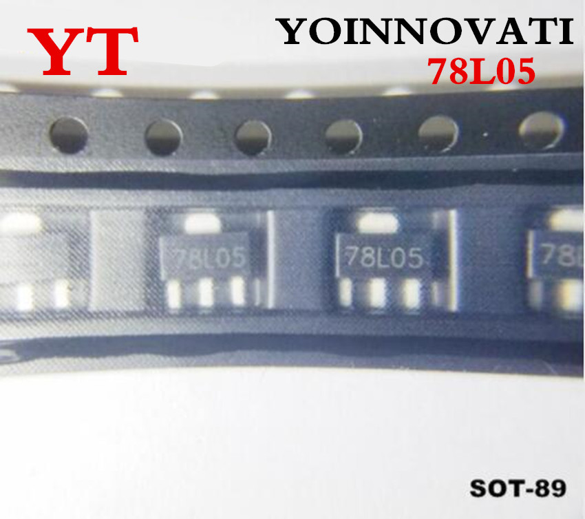 Free shipping 3000pcs lot 78L05 L78L05 7805 Voltage Regulator 5V 100mA SOT 89 SMD Best quality