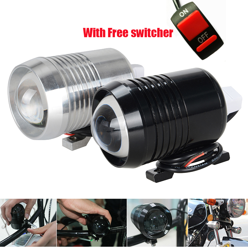 Quality A+++ One pair U2 LED Motorcycle Headlight Fog Lamps 30W 1200LM Driving Light With Lens for Bike Offroad ATV Spotlight