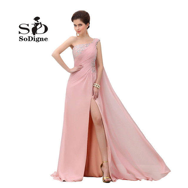 Prom Dress 2017 SoDigne One Shoulder Backless Rhinestone Beaded A ...