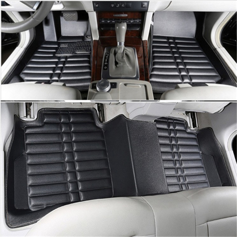 Car Floor Mats Covers top grade anti scratch fire resistant durable waterproof 5D mat for AUDI Q5,Q3 A6L A4L ect ,Styling car floor mats covers top grade anti scratch fire resistant durable waterproof 5d leather mat for nissan series car styling