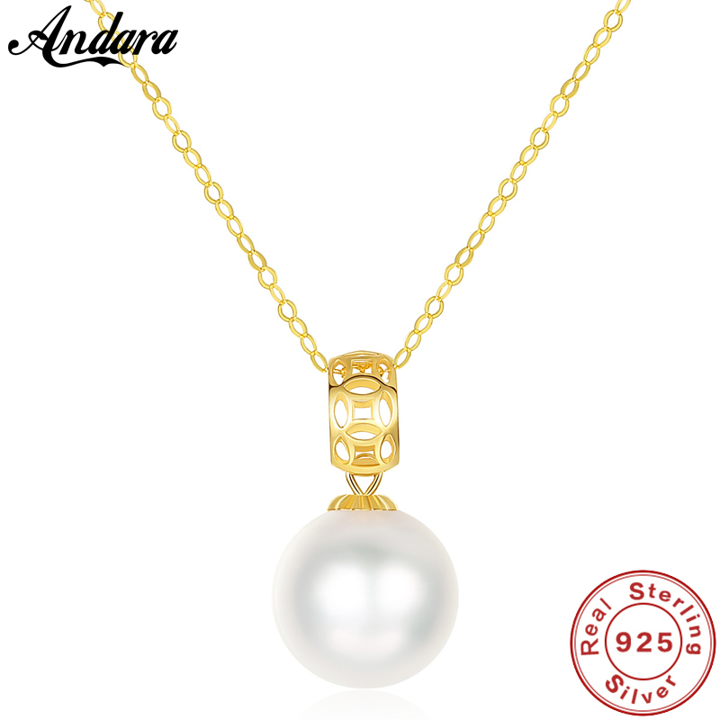 Real 18K Gold Necklace Round Tahitian Pearl Akoya Pearl Pendant Chain Necklace For Women Luxury JewelryReal 18K Gold Necklace Round Tahitian Pearl Akoya Pearl Pendant Chain Necklace For Women Luxury Jewelry
