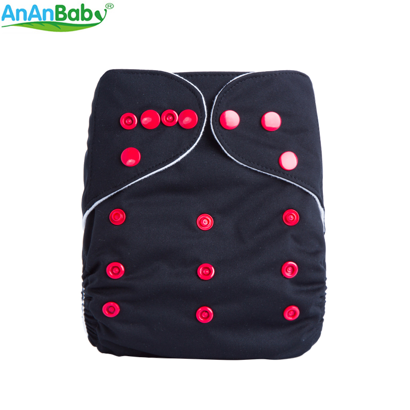 AnAnBaby All In One Size New Design 1 PCS Plain Color Cloth Diapers Breathable Pocket Diapers For Baby B-series