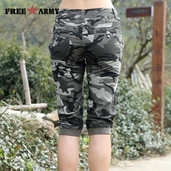 Freearmy Brand New Fashion Summer Style Knee-Length Short Trousers Women's Military Style Camouflage Ladies Short Pants  Cotton  1