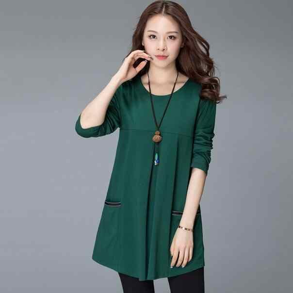 Осень Зима Женская Туника блузка Harajuku черный красный зеленый с длинным рукавом полосатые Лоскутные рубашки плюс размер женские Топы Блузка DC255