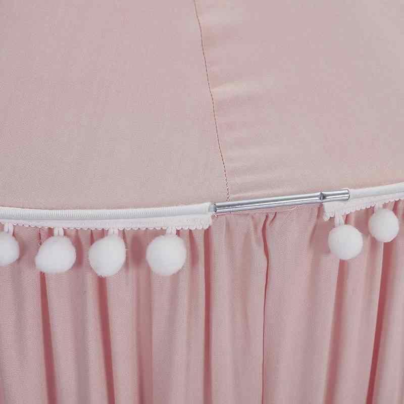 Детское постельное белье москитная сетка романтическая круглая кровать москитная сетка покрывало розовая подвесная купольная кровать навес для детской спальни