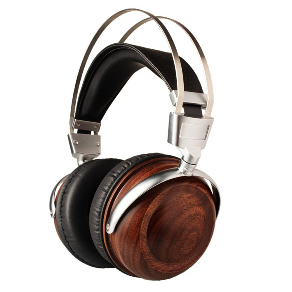 HiFi Headphone Earphones Wooden Metal Headphone With Beryllium Alloy Driver And protein Leather Cushion For iphone xiaomi B6