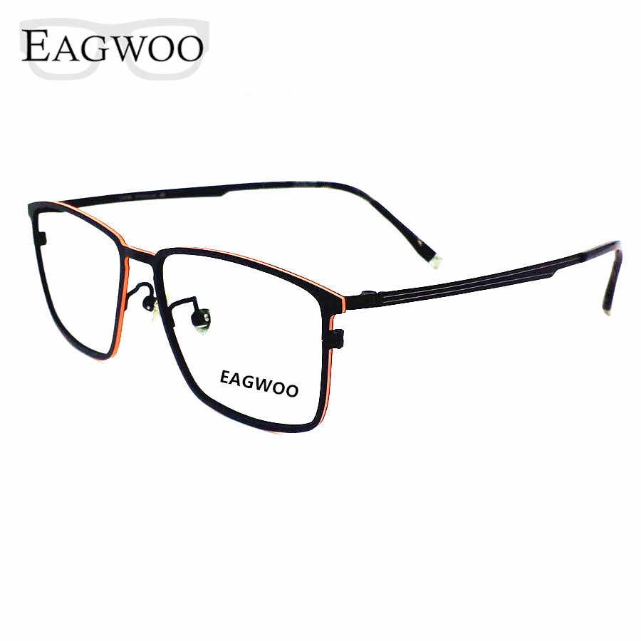 Pure Titanium Eyeglasses Metal Full Rim Optical Frame Prescription Spectacle Vintage Nerd Glasses For Men Eye Glasses New 57082