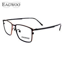 Pure Titanium Eyeglasses Metal Full Rim Optical Frame Prescription Spectacle Vintage Nerd Glasses For Men Eye Glasses New 57082