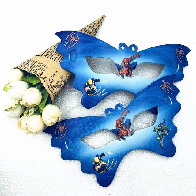 10pcs lot spiderman cartoon eye cover face masks party decoration