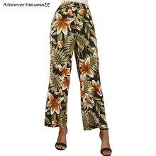 A Forever 2019 Spring Summer Print Pant For Women High Waist