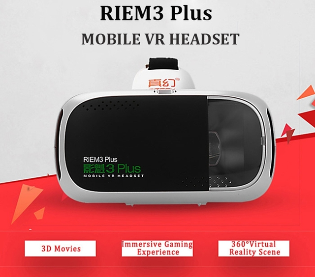 "RITECH RIEM3 Plus 3D VR Glasses Virtual Reality Box Head Mount Private Theater Mobile VR Headset for 4.7-6.0"" Smartphone for lg"