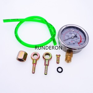 Image 5 - Engine Fuel System Turbocharger Turbo Oil Pressure Gauge 0.1Mpa Tester Diagnosis Shockproof High Precision Tool Kit