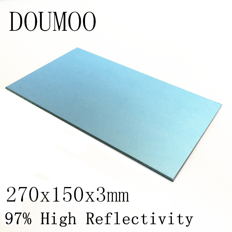 1PC 270x150x3mm Projector Reflector Mirror DIY Projector Accessories 97% High Reflectivity Lens For 12.1 inches Projector 16:9