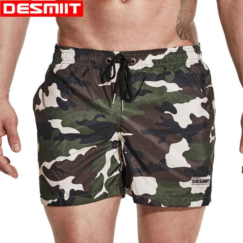 Pantalones cortos de camuflaje para hombre, traje de baño para hombre, bañador de secado rápido para playa, Bermudas, tabla de surf, bañador, sunga