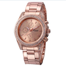 Top Selling New Fashion Ladies Women Girl Metal Stainless Steel Band crystal Diamond bracelet Quartz Wrist Watch Clock As Gift