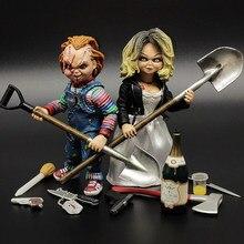 Kind Spielen Braut von Chucky 1/12 Skala Horror Puppe Chucky Deluxy Ausgabe PVC Action-figur Spielzeug 12cm NECA